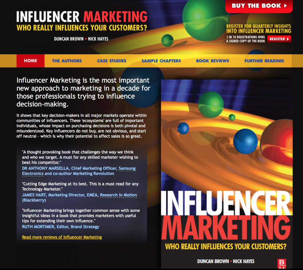 Influencer Marketing Book: Who Really Influences Your Customers?, Nick Hayes, Influencer Marketing, Influencer50