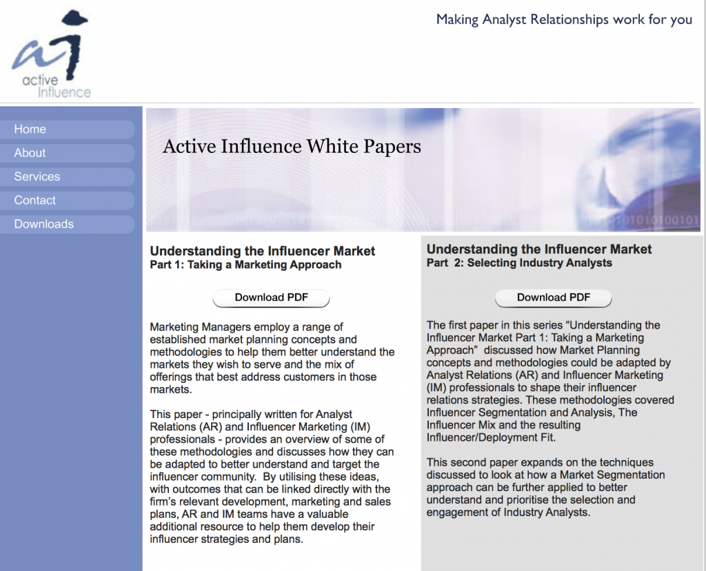 Active Influence White Papers