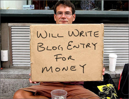 Blogging for pay